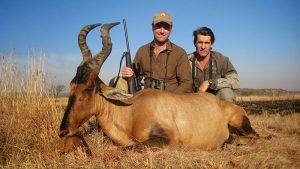 Jonathan and Rudolph with a good Red Hartebeest